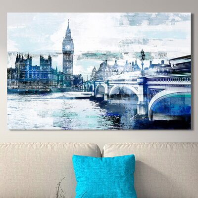 'Big Ben I' Graphic Art Print on Wrapped Canvas Size: 18