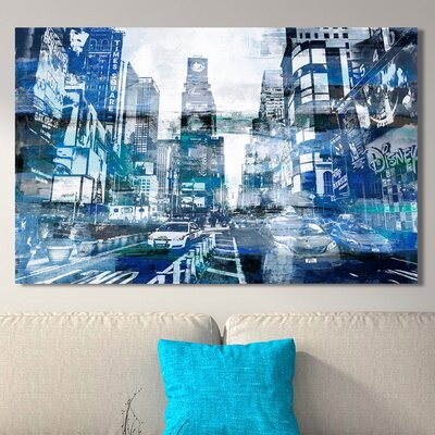 'Times Square II' Graphic Art Print on Wrapped Canvas Size: 18