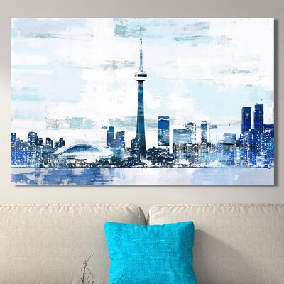 'Toronto I' Graphic Art Print on Wrapped Canvas Size: 18