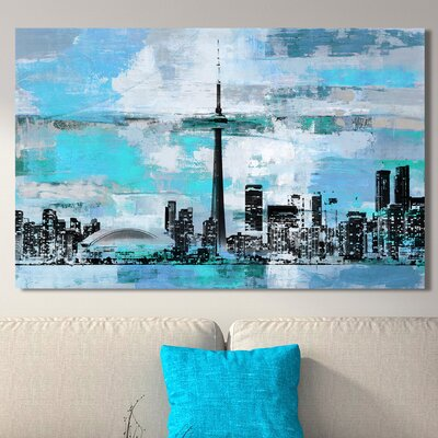 'Toronto III' Graphic Art Print on Wrapped Canvas Size: 18