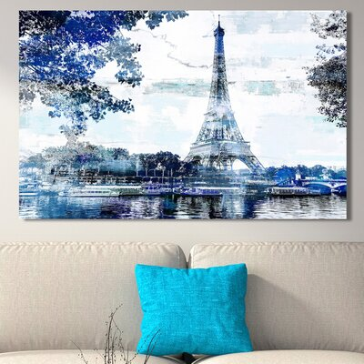 'Paris I' Graphic Art Print on Wrapped Canvas Size: 18