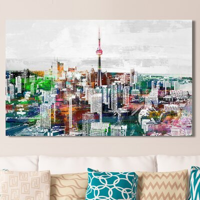 'Toronto, Ontario III' Graphic Art Print on Wrapped Canvas Size: 18