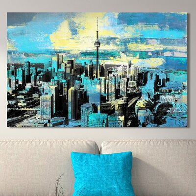 'Toronto, Ontario IV' Graphic Art Print on Wrapped Canvas Size: 18