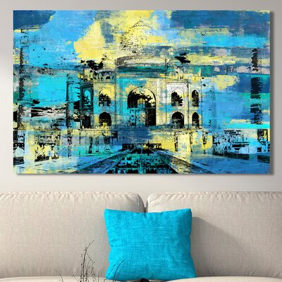 'Taj Mahal I' Graphic Art Print on Wrapped Canvas Size: 18