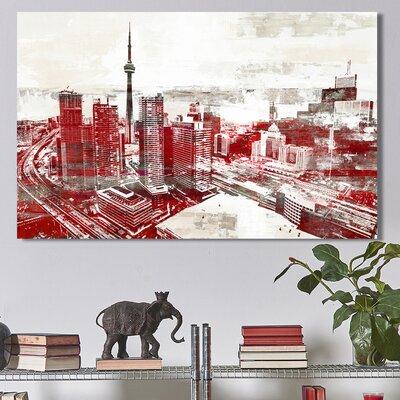Studio 'Toronto City View 2' Graphic Art Print on Wrapped Canvas Size: 18
