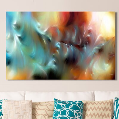 'God is Awesome and Glorious, Isaiah 57:15' Painting Print on Wrapped Canvas Size: 18
