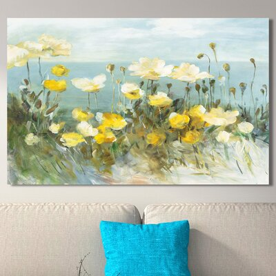 'Field of Poppies Bright' Painting Print on Wrapped Canvas Size: 18