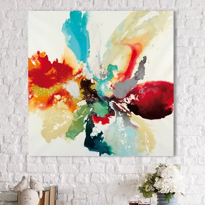 'Color Expression' Acrylic Painting Print on Canvas Size: 18