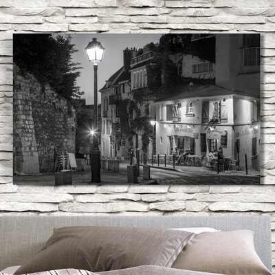 'Twilight at Maison Rose' Photographic Print on Wrapped Canvas Size: 18