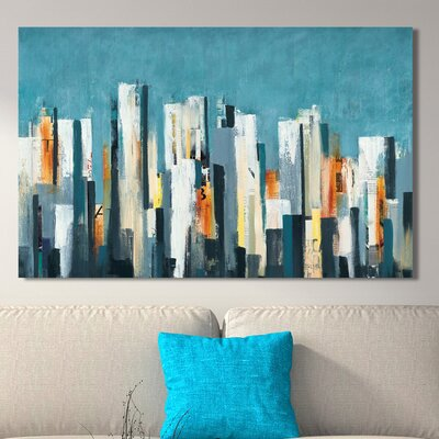 'Urban Play' Acrylic Painting Print on Canvas Size: 18