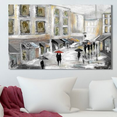 'Sunday Market' Painting Print on Wrapped Canvas Size: 18