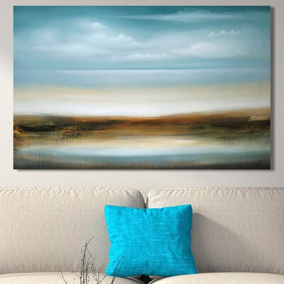 'Scape 309' Painting Print on Wrapped Canvas Size: 18