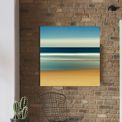 'Sea Stripes II' Painting Print on Wrapped Canvas Size: 18