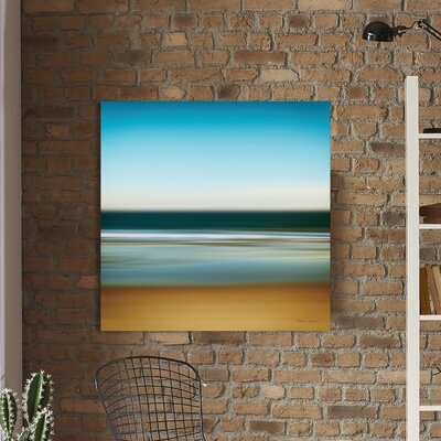 'Sea Stripes I' Painting Print on Wrapped Canvas Size: 18