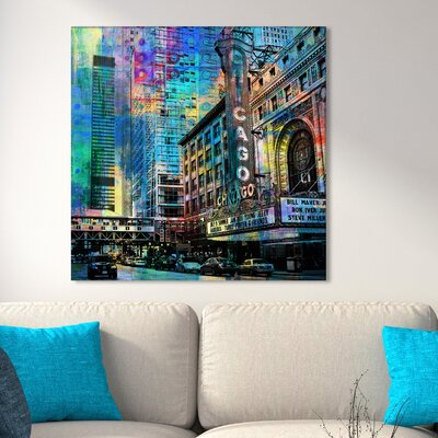 'Chicago' Graphic Art Print on Wrapped Canvas Size: 18