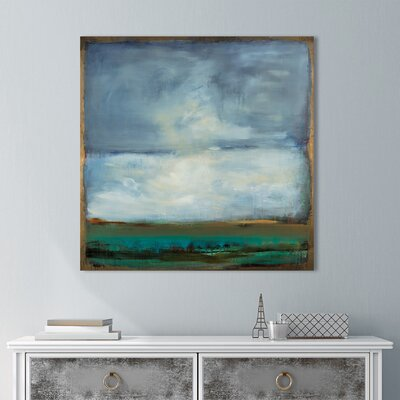 'Shifting Plains' Print on Wrapped Canvas Size: 18