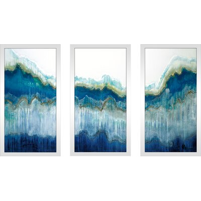 'Surf's Up' Framed Acrylic Painting Print Multi-Piece Image on Glass Size: 25.5