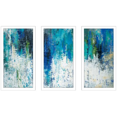 'Surface of the Lake' Framed Acrylic Painting Print Multi-Piece Image on Glass Size: 25.5