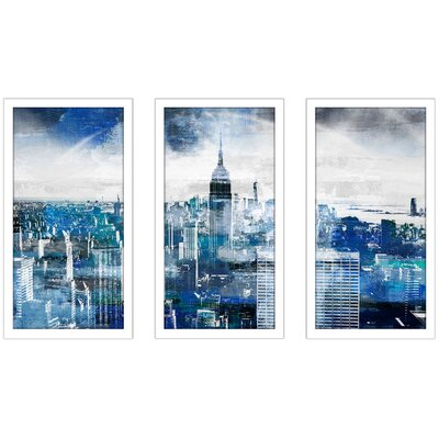 'Empire State Building 2' Framed Graphic Art Print Multi-Piece Image on Glass Size: 25.5