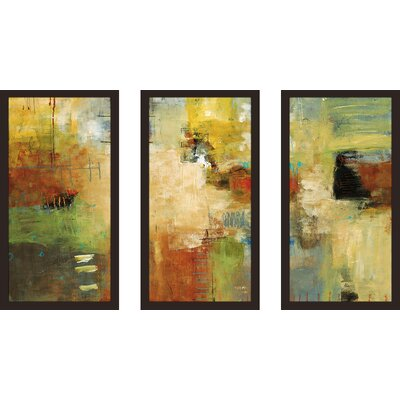 'For Instance' Framed Acrylic Painting Print Multi-Piece Image on Glass Size: 25.5