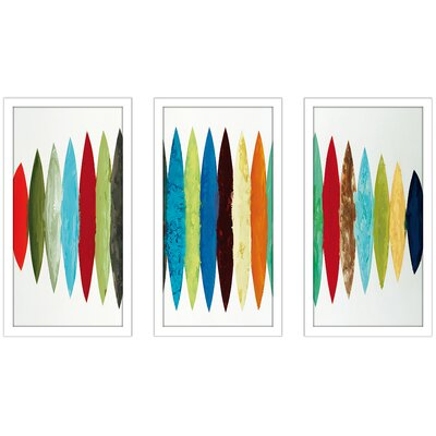 'Ocean Time' Framed Acrylic Painting Print Multi-Piece Image Size: 25.5
