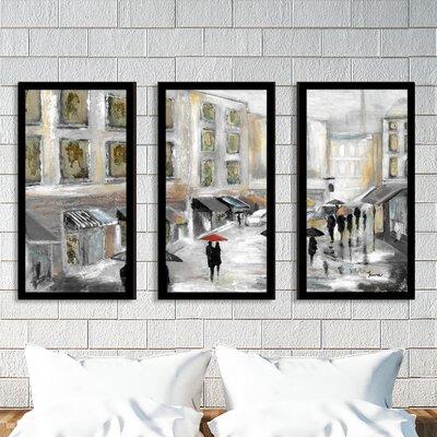 'Sunday Market' Framed Acrylic Painting Print Multi-Piece Image on Glass Size: 25.5
