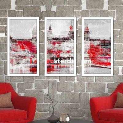 'I Amsterdam II' Framed Graphic Art Print Multi-Piece Image Size: 25.5