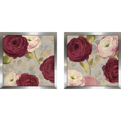 'Amorous I' 2 Piece Framed Print Set on Glass