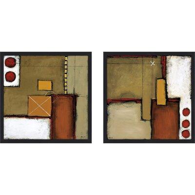 'Shaken' 2 Piece Framed Print Set on Glass