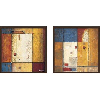 'Antiquities' 2 Piece Framed Print Set on Glass