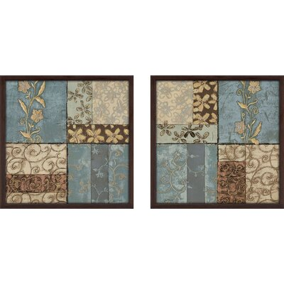 'Pattern Of Happiness I' 2 Piece Framed Graphic Art Print Set on Glass FDLL4593 41033666