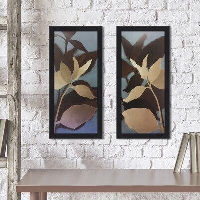 'Sur le Bleu I' 2 Piece Framed Print Set