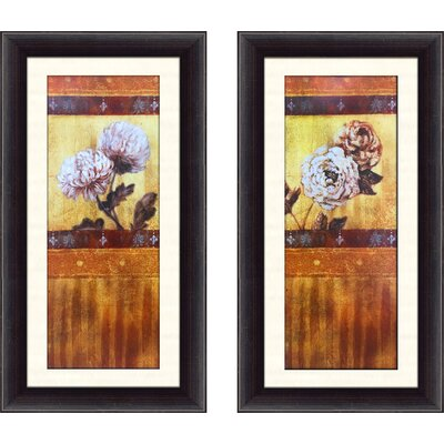 'Golden Mum Panel' 2 Piece Framed Graphic Art Print Set