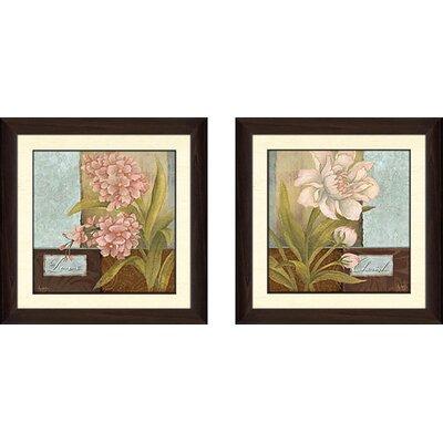 'Inspirational Flower' 2 Piece Framed Acrylic Painting Print Set