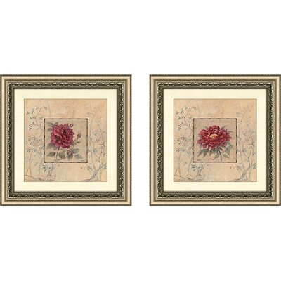 'Timeless Beauty' 2 Piece Framed Acrylic Painting Print Set