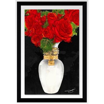 'Flowers in Red' Print Format: Black Framed Plexiglass, Size: 27.5