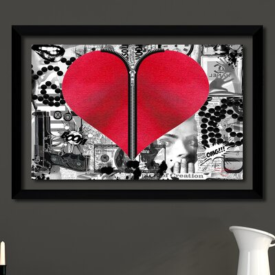 'Love Hurts' Framed Graphic Art Print Size: 12.5