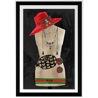 'Dress for Success Rome' Graphic Art Print Format: Black Framed Plexiglass, Size: 27.5