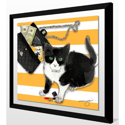 'Purrfection' Framed Graphic Art Print Size: 27.5