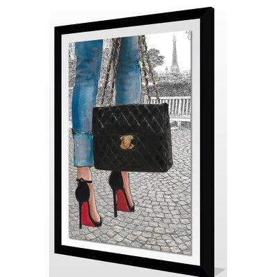 'Paris Park' Framed Graphic Art Print Size: 27.5