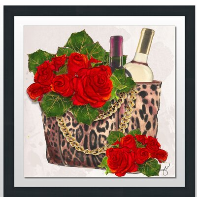 'Wine and Roses' Framed Print Size: 27.5