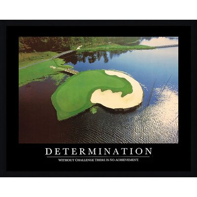 'Determination Golf Course' Framed Graphic Art Print