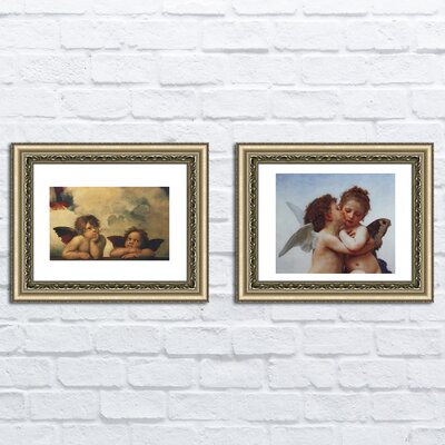'Detail from Sistine Madonna' 2 Piece Framed Acrylic Painting Print Set
