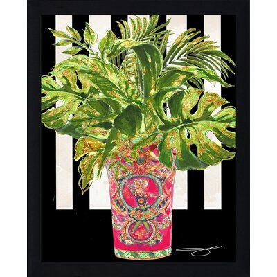'Tropical Pink 1' Graphic Art Print Format: Black Framed Paper, Size: 15.5