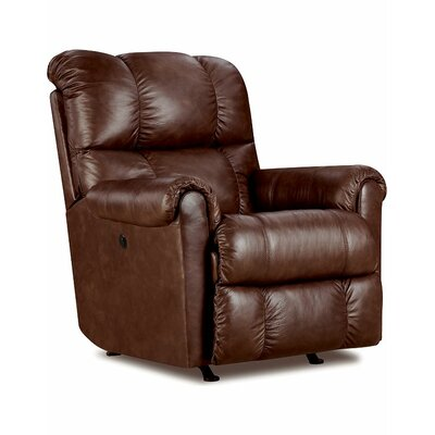 Eureka Power Rocker Recliner Upholstery: Savage Cocoa Brown
