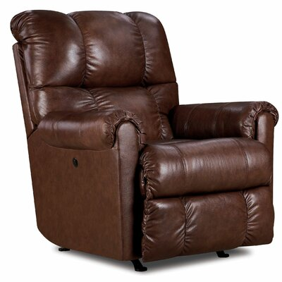 Eureka Recliner Upholstery: Saddle Brown