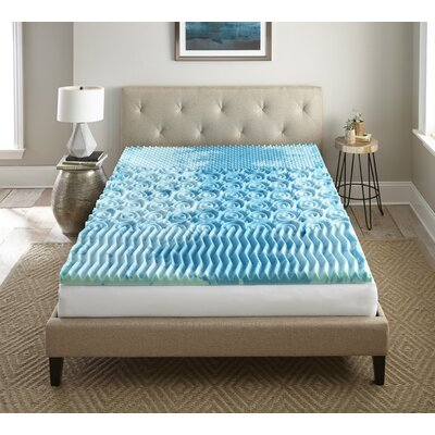 Sleep Cool Gellux 2 Gel Memory Foam Mattress Topper Size: Twin