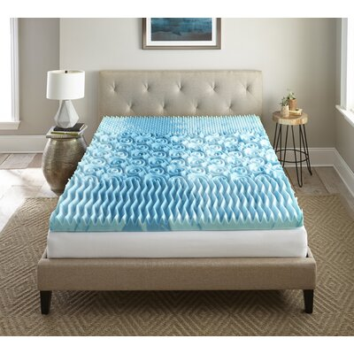 Sleep Cool Gellux 3 Gel Memory Foam Mattress Topper Size: Queen