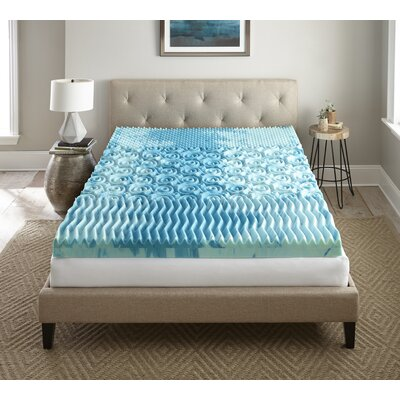 Sleep Cool Gellux 4 Gel Memory Foam Mattress Topper Size: Queen