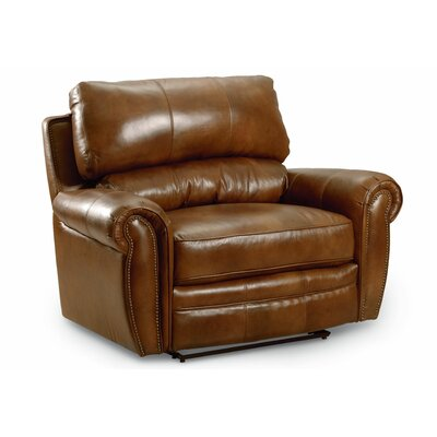 Rockford Snuggler� Leather Recliner Type: Manual